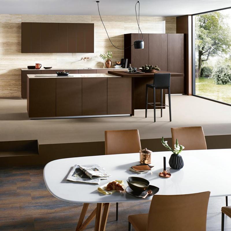 Küche verbunden mit dem Wohnzimmer, Next125 Partner von hp. mülller ag schreinerei, küche bad wohnen, massgeschreinerte küche, Ihr Küchenbauer in St.Gallen