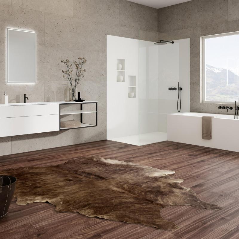 Badmöbel mit dunkelnem Parkettboden von ,talsee, Partner von hp. mülller ag schreinerei, küche bad wohnen, massgeschreinertes bad, Ihr Bad-Planer in St.Gallen