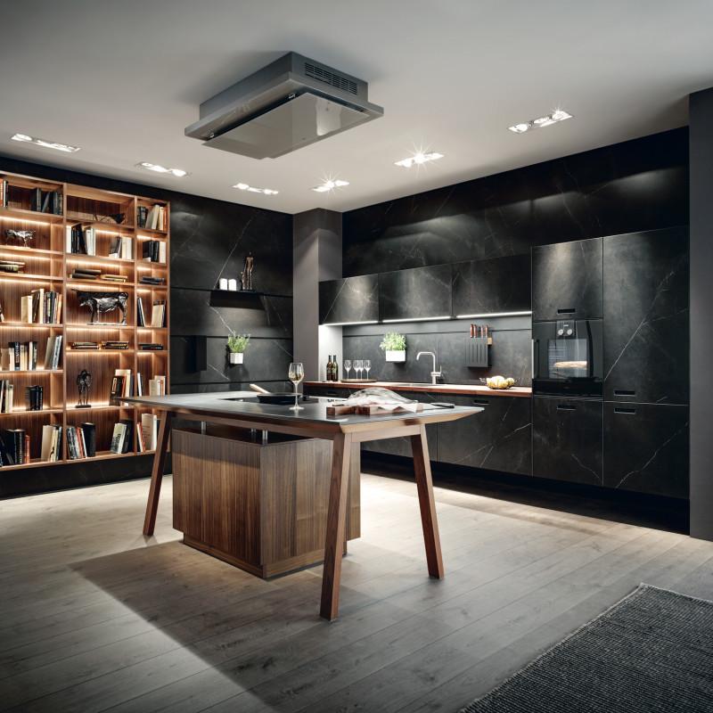 Küche mit offenem Holzregal, Next125 Partner von hp. mülller ag schreinerei, küche bad wohnen, massgeschreinerte küche, Ihr Küchenbauer in St.Gallen