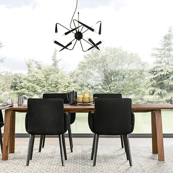 Esstisch in Massivholz im Wohnzimmer, next125, Partner von hp. mülller ag schreinerei, küche bad wohnen, massgeschreinertes wohnen, Ihr Schreiner in St.Gallen