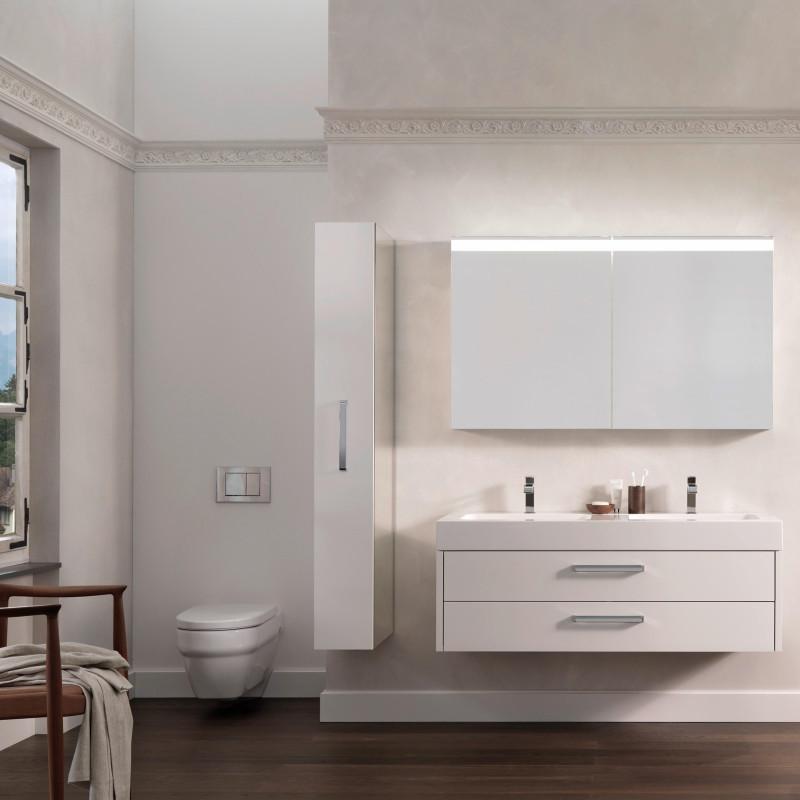 Badmöbel mit Spiegel und WC von ,talsee, Partner von hp. mülller ag schreinerei, küche bad wohnen, massgeschreinertes bad, Ihr Bad-Planer in St.Gallen